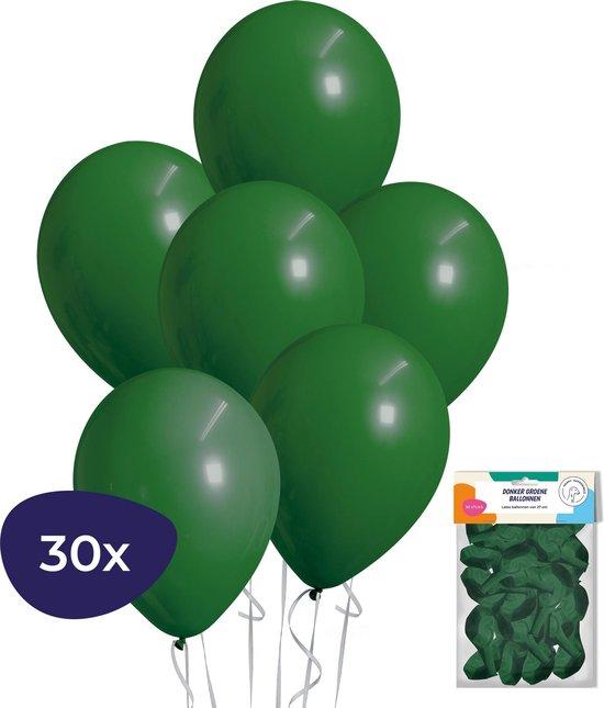 Groene Ballonnen – Helium Ballonnen – Jungle Decoratie – Jungle Versiering - Donker Groene Ballonnen – 30 stuks