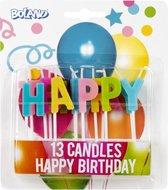 Boland Kaarsjes Op Prikker Happy Birthday Wax 13 Stuks