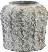 PTMD Pot L Rugged grijs 22x21x22 cm