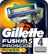 Gillette Fusion5 ProGlide Power Scheermesjes Mannen - 4 stuks