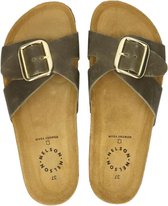 Nelson dames slipper - Khaki - Maat 36