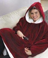 Fleece deken   Hoodie blanket   Trui deken   Kleur: ROOD