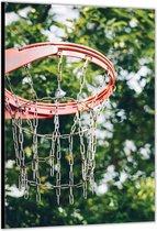 Dibond – Basketbalnet– 60x90cm Foto op Aluminium (Met Ophangsysteem)