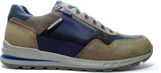 Mephisto Bradley Sneakers Hazelnoot Blauw