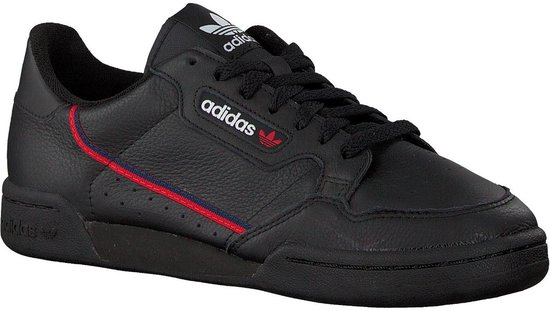 adidas Continental 80 Heren Sneakers - Core Black/Scarlet/Collegiate Navy -  Maat 46