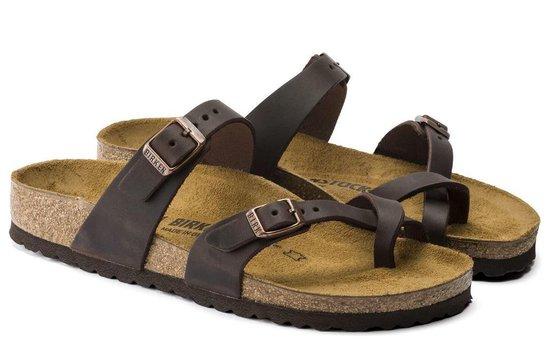 Birkenstock Mayari habana bruin narrow slippers dames (S) (171323) GTp0Olz4