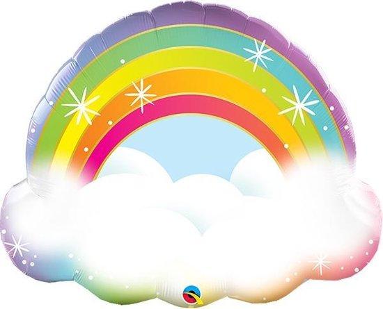 Folieballon Wolk met Regenboog