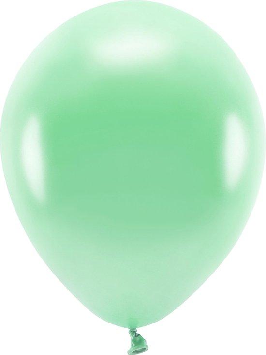 100x Mintgroene ballonnen 26 cm eco/biologisch afbreekbaar - Milieuvriendelijke ballonnen - Feestversiering/feestdecoratie - Mintgroen thema - Themafeest versiering
