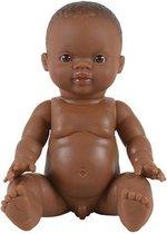 Paola Reina Gordi babypop donker jongen in zak 34cm