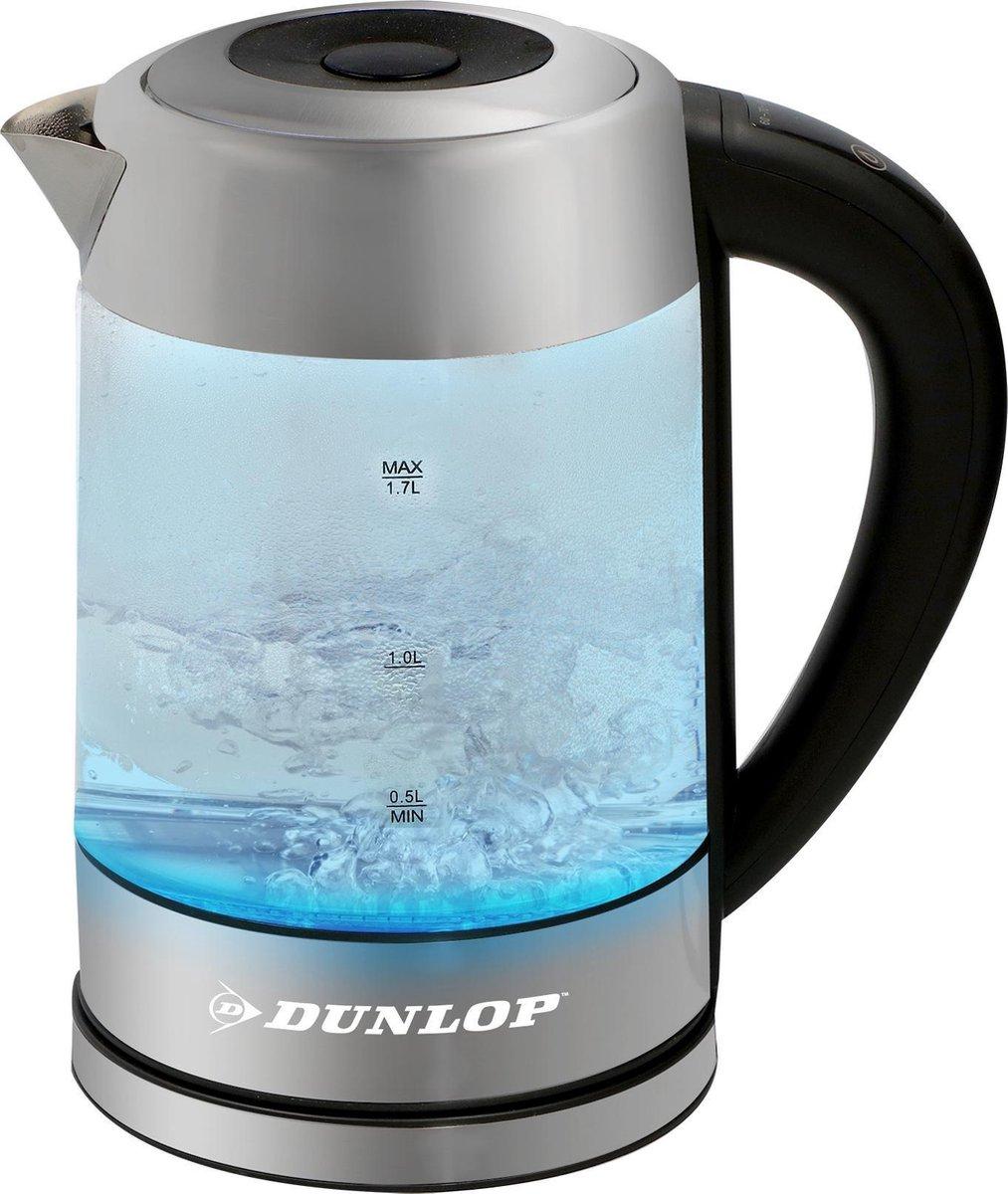 DUNLOP waterkoker met temperatuurregeling met LED kleuren 1,7l