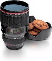ThumbsUp! Camera Lens - Beker - Zwart