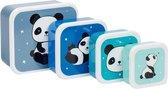 Panda snackdoosjes set van 4 - A Little Lovely Company