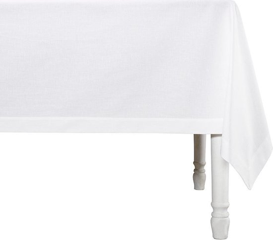 De Witte Lietaer Tafellaken Sonora 310x160 Cm Katoen Wit