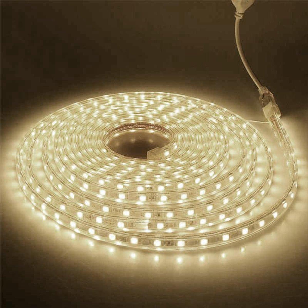 1 meter 220V LED strip, Warm wit, IP65