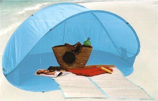 Pop Up Beach Tent 200X100X90 Cm – Blauw – 2 Persoons