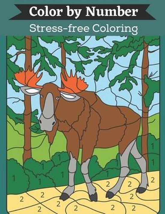 Color by Number Stress-free Coloring: The Big Book Of Adult Color By Number A Premium Large Print Designs For Adults Fantasy Color By Number Coloring