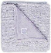 Jollein Melange Knit Ledikant Deken - 100x150 cm - Licht paars/ koraal
