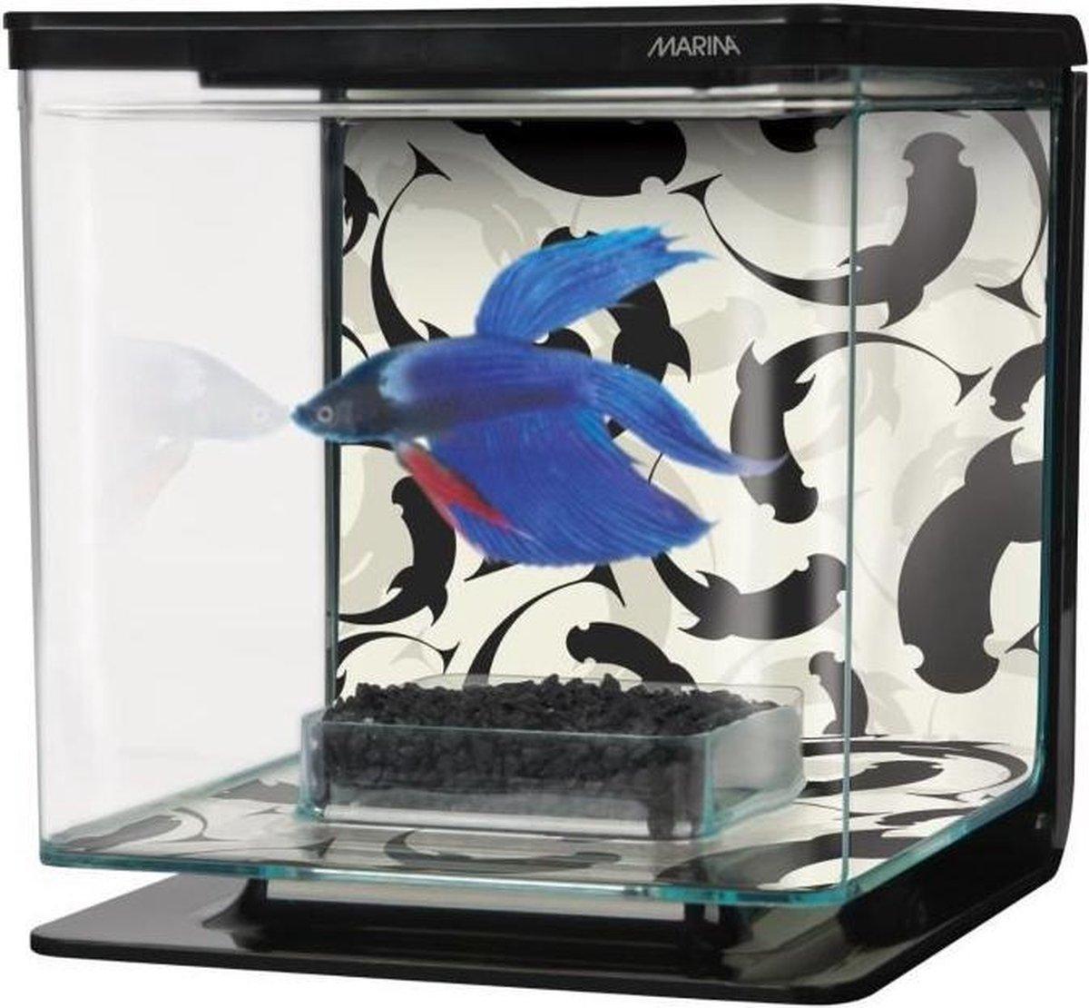 Marina Ying/Yang Betta Aquarium Kit - 15x15x15 cm - 2 L - Marina