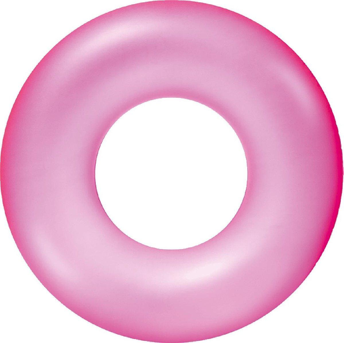 Zwemband Transparant basic 76cm - roze