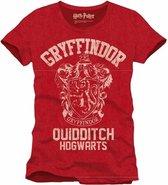 HARRY POTTER - T-Shirt Griffindor Qhidditch - Red (XL)