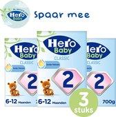 Hero Baby Standaard Classic 2 - opvolgmelk (6-12mnd) - 3 STUKS - met melkvet & zonder palmolie - flesvoeding - babymelk - melkpoeder - 3 verpakkingen