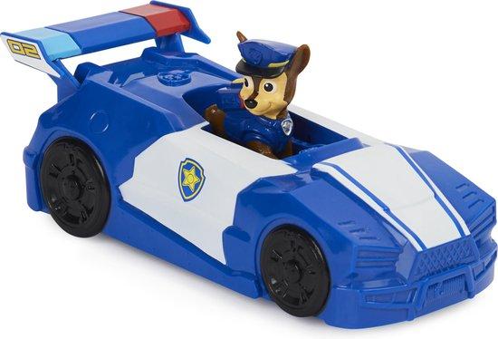 PAW Patrol De Film, Mini Chase voertuig, set met figuur en 2-in-1 politiewagen en motor