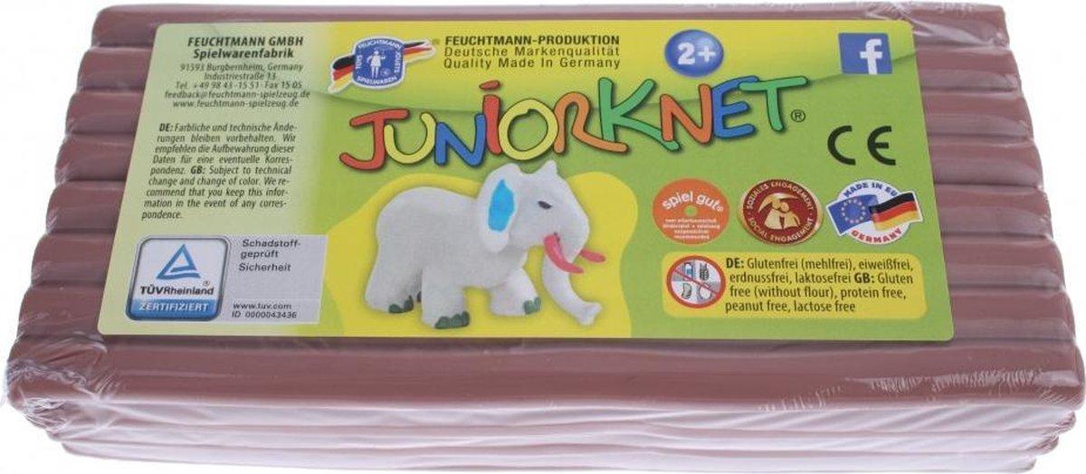 Juniorknet Klei Jumbo Pack 500 gram Bruin