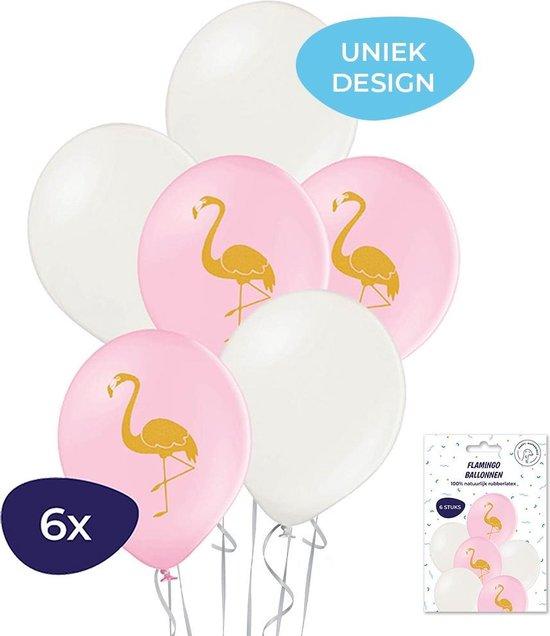 Flamingo ballonnen - 6 stuks - Bedrukte ballonnen