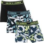 Jack & Jones jongens boxershort 3-pack -  Safety Yellow Brick  - 164