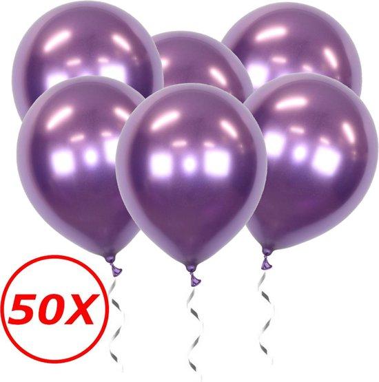 Paarse Ballonnen Verjaardag Versiering Paars Helium Ballonnen Feest Versiering Halloween Decoratie Chrome - 50 Stuks