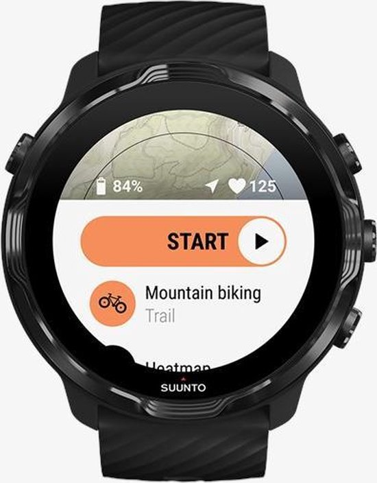 Suunto 7 sport horloge Touchscreen Bluetooth 454 x 454 Pixels Zwart