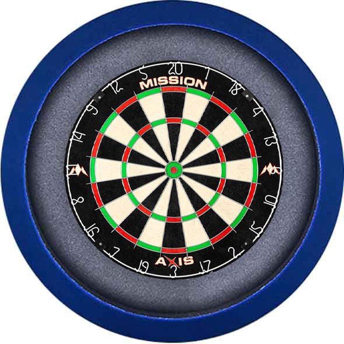 Dartbord Verlichting Voordeelpakket Pro + Mission Axis + Dartbordverlichting Basic XL(Blauw)