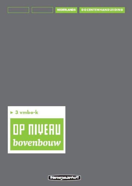 Op niveau 3 vmbo-k Docentenhandleiding/lineair - Kraaijeveld pdf epub
