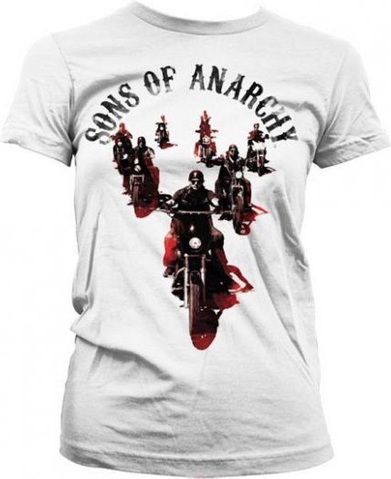 Sons Of Anarchy shirt dames wit M