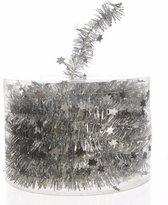 Kerstslinger - Folie slinger met sterren - Zilver - 700 cm