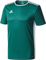 Adidas Entrada 18 Shirt Korte Mouw - Collegiate Green / Wit | Maat: XL