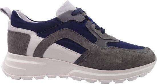 Van Driel Exclusive Sneakers New York Blauw Grijs