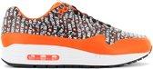 Nike Air Max 1 Premium - Just Do It - Heren Sneakers Sportschoenen Schoenen Zwart-Oranje 875844-008 - Maat EU 44 US 10