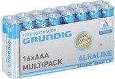 48x Grundig AAA batterijen alkaline 1.5 volt - voordeelpak - batterijen / accu