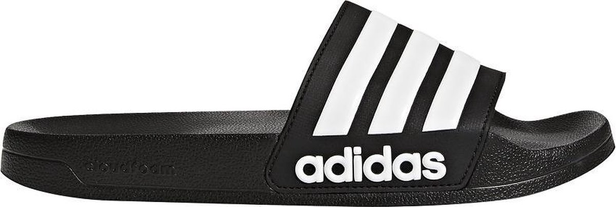 adidas CF Adilette Slippers Volwassenen - Black/White - Maat 46