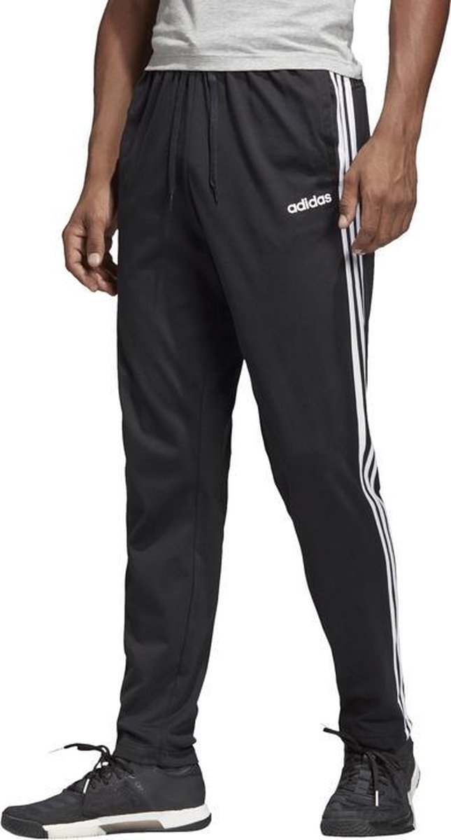 adidas Essentials 3 Stripes Tapered Open Hem Pant DU0456, Mannen, Zwart, Broeken maat: S EU