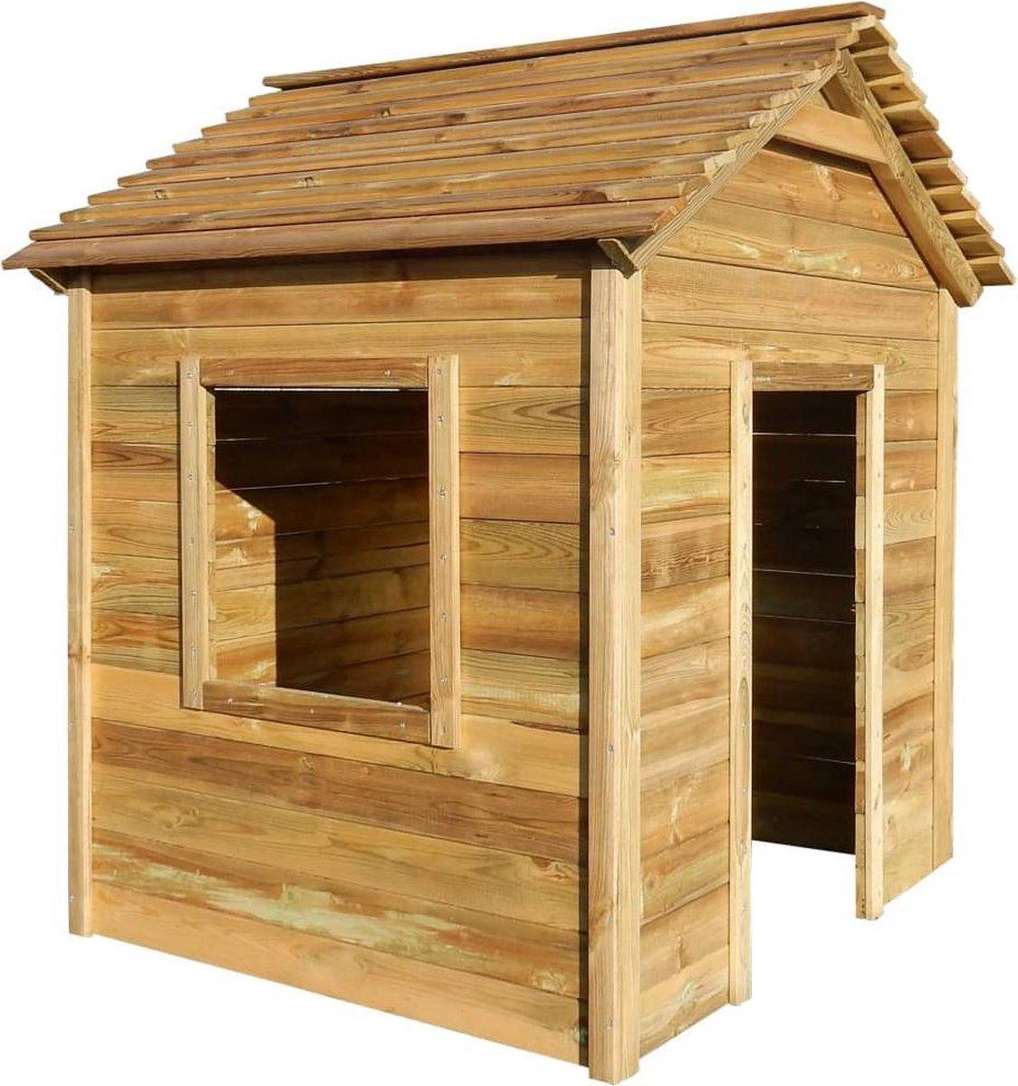 Buitenspeelhuis 123x120x146 cm FSC grenenhout