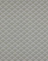 Retro behang EDEM 1031-15 vinylbehang gestempeld met grafisch patroon glinsterend crème groen wit grijs 5,33 m2