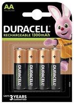 Duracell Rechargeable AA 1300mAh Batterijen, verpakking van 4