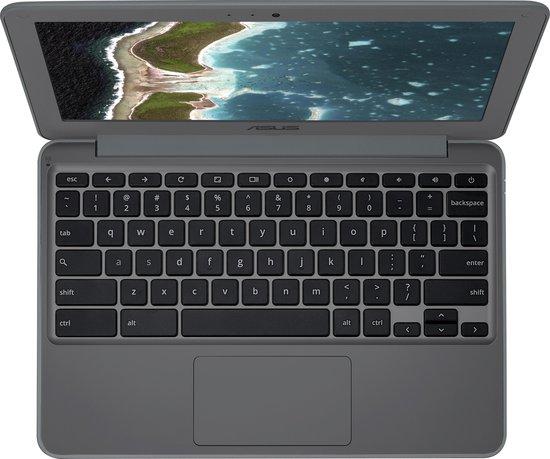 """ASUS C202XA-GJ0010 Chromebook Grijs 29,5 cm (11.6"""") 1366 x 768 Pixels MediaTek 4 GB LPDDR3-SDRAM 32 GB eMMC Wi-Fi 5 (802.11ac) Chrome OS"""