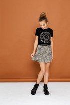Geisha Meisjes t-shirts & polos Geisha  T-shirt with front print zwart 128