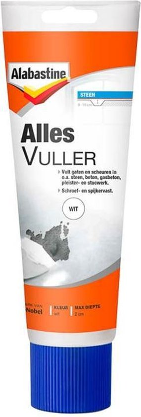 Alabastine Allesvuller - Wit - 330 gram