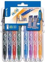 Pilot FriXion - Rollerball pennenset - uitwisbaar - 8 kleuren - in luxe blister