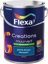 Flexa Creations Muurverf - Extra Mat - Mengkleuren Collectie - 100% Golven  - 5 liter