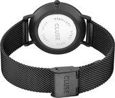 CLUSE CL18111 LA Bohème Mesh - Horloge - Staal - Zwart - Ø 38 mm